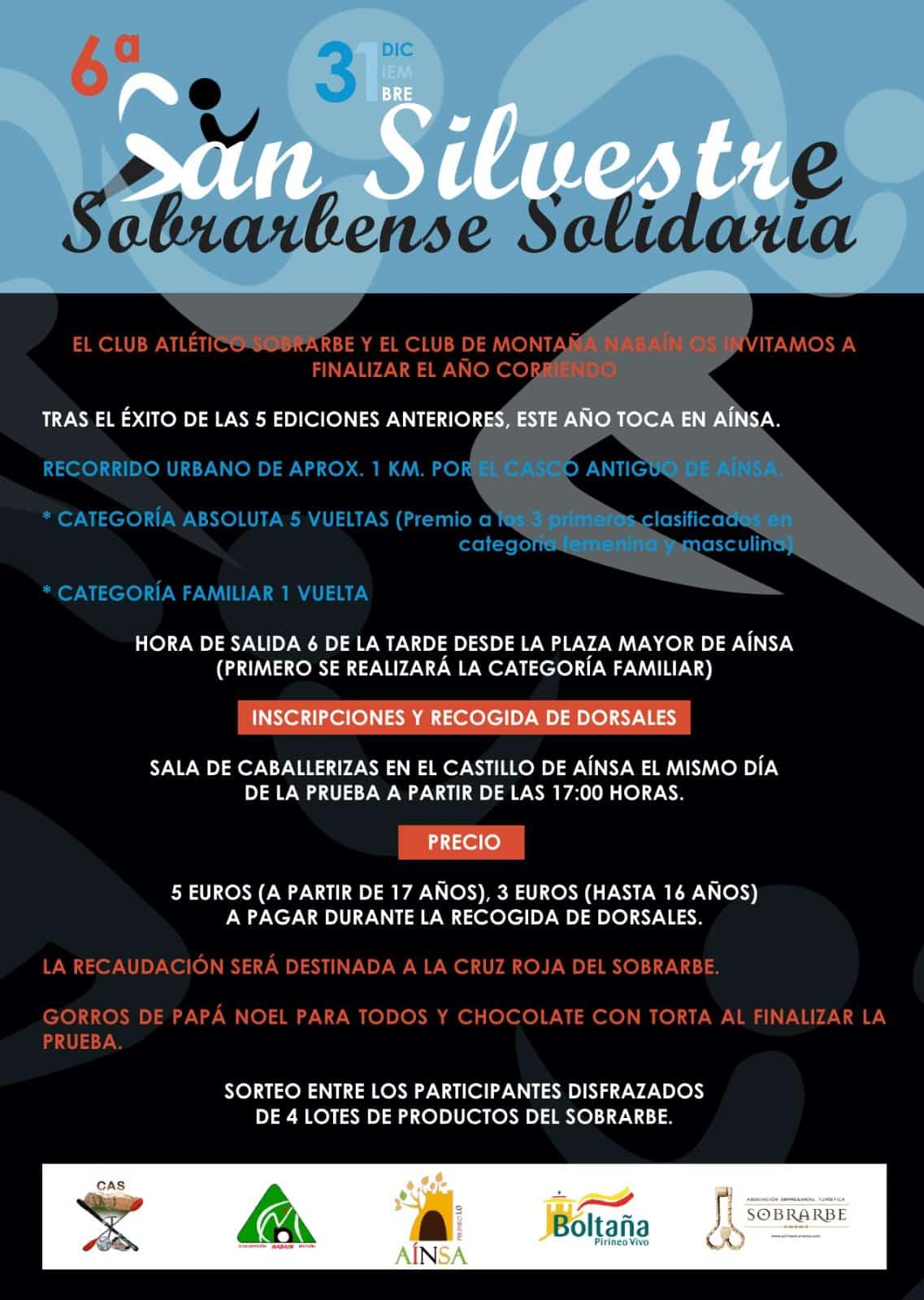 6ªSAN SILVESTRE SOBRARBENSE SOLIDARIA - Aínsa Sobrarbe